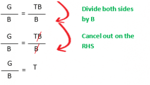 Changing the subject of a formula example 1.2