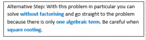 Quadratic Equations example2.4