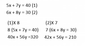 Simultaneous Equations example 3.2
