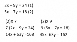 Simultaneous Equations example 4.2