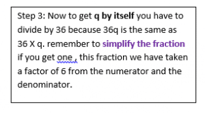 Solving Linear Equations with Fractions example 1.6