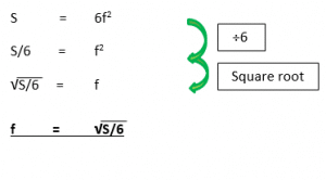 Changing the Subject of the Formula example 3.2