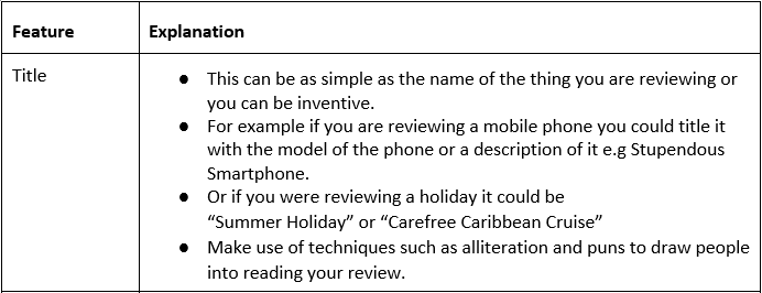 ENGLISH - WRITING A REVIEW - GCSE-image4