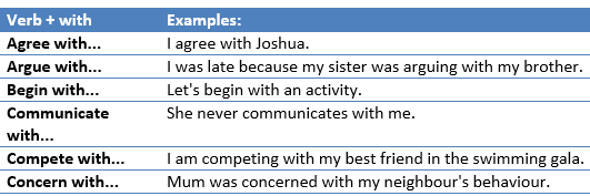 Verb + preposition-example10