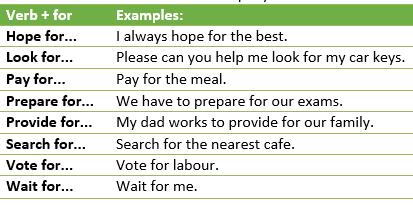 Verb + preposition-example9